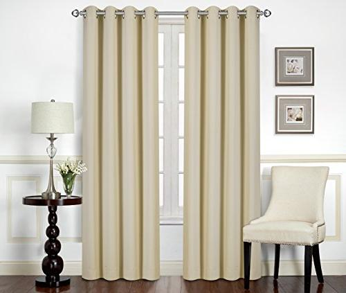 Utopia Bedding Pack 10 and Curtains/Panels/Drapes - 2 Panels Set per Tie Backs Included