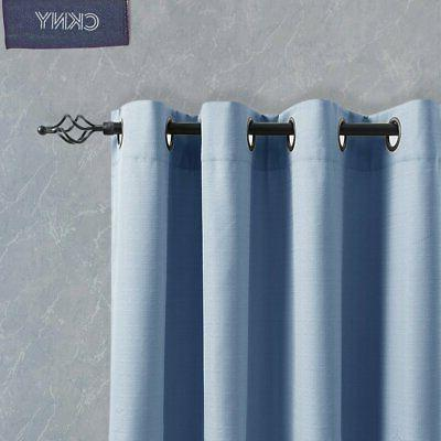 jinchan Curtain inch Blue Bedroom Thermal Insulated