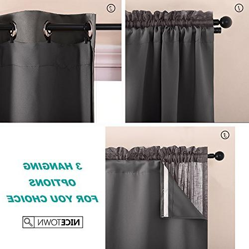 NICETOWN Blackout Curtain Drape Liners Insulated Blackout Drapery