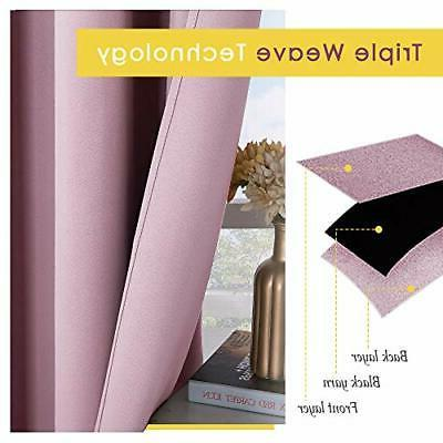 Blackout Curtain Insulated Grommet Drapes Bedroom, 2