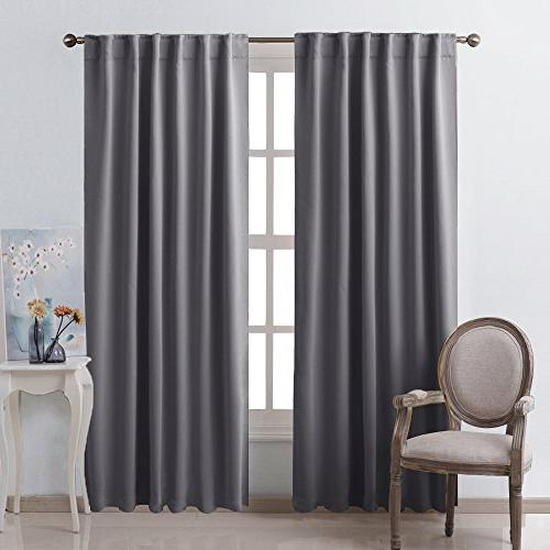 NICETOWN Panels Window Draperies - Inch, Pieces, Room Darkening Drapes for