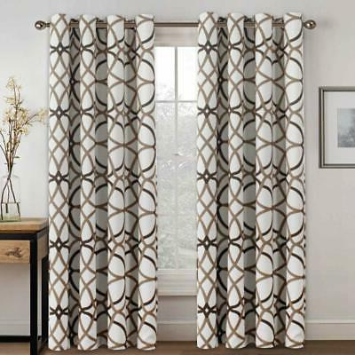 Blackout Curtain Thermal Insulated Window Drape for Bedroom/