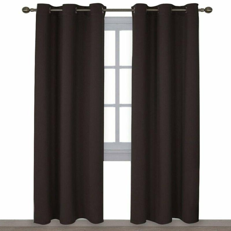 Blackout Curtains 2 Panels Energy Smart Thermal Insulated So