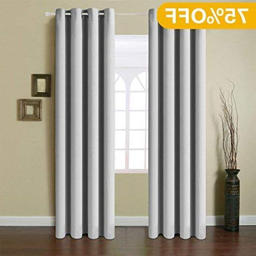 blackout curtains 2 panels thermal
