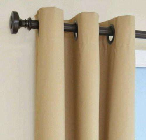 blackout curtains eclipse microfiber grommet beige single