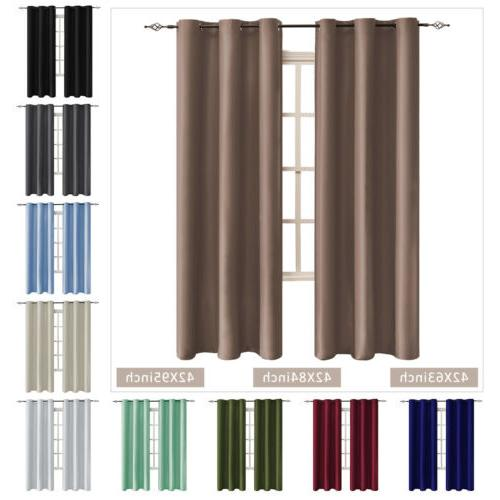 42 inch 2 panel blackout curtains light