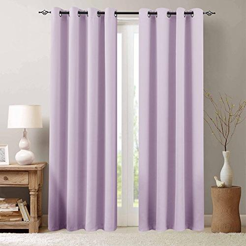 blackout curtains lilac thermal insulated
