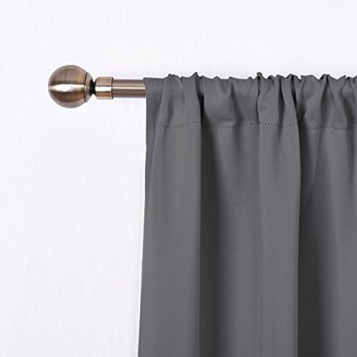 NICETOWN for Bedroom - Pass Microfiber Noise Reducing Thermal Insulated Rod Pocket Panels/Drapes