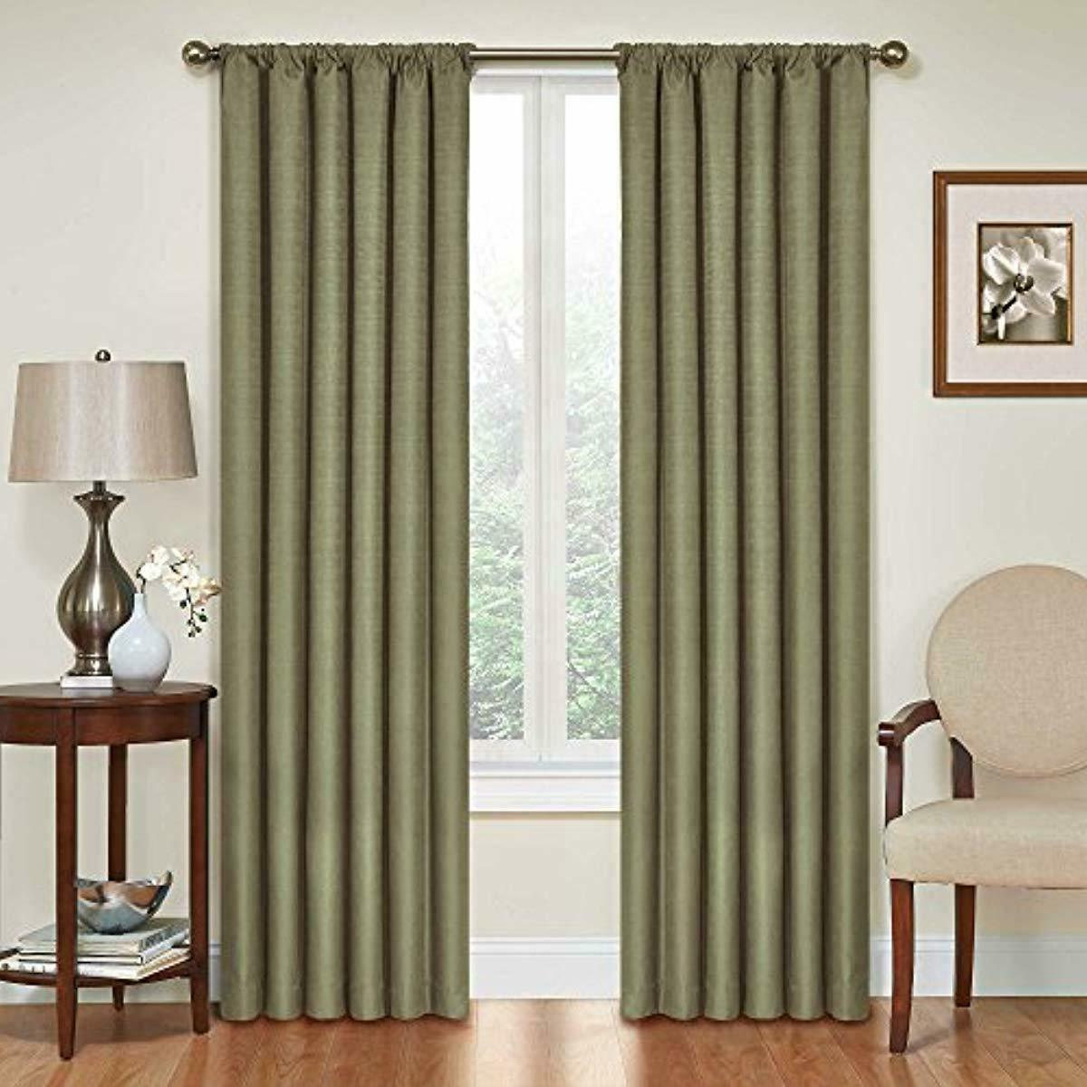 blackout curtains thermal curtain single panel rod