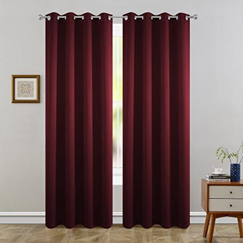 FLOWEROOM Blackout Curtains Thermal Insulated Draperies for by Panels