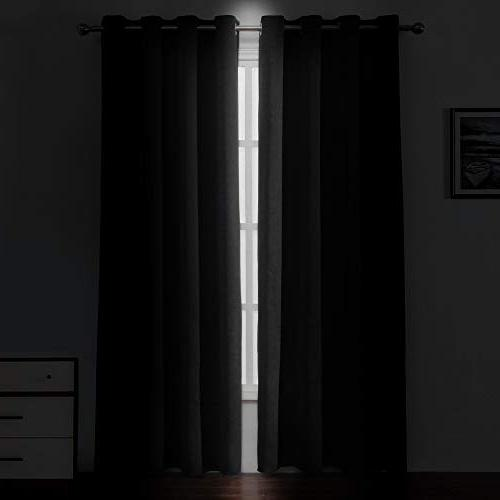 Lemomo Blackout Insulated Room Living Bedroom 52 x 84 inch Set of Curtain Panels