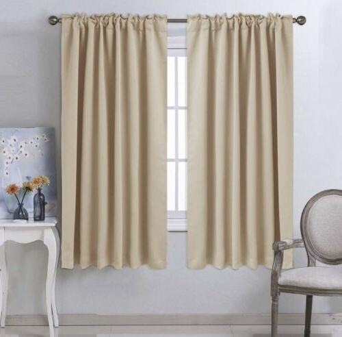 Thermal Insulated Eyelet Window Curtains