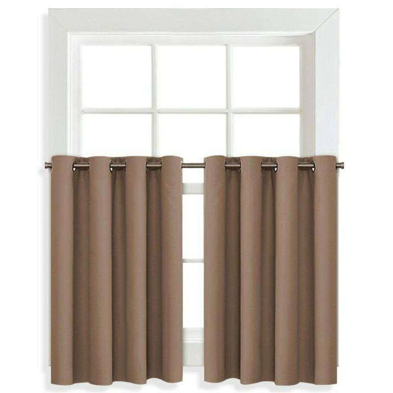 Nicetown Blackout Drapes For Small Window - Grommet Top Wind