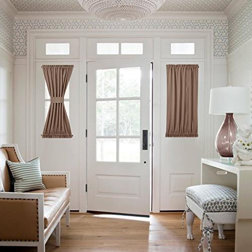 blackout french door curtain