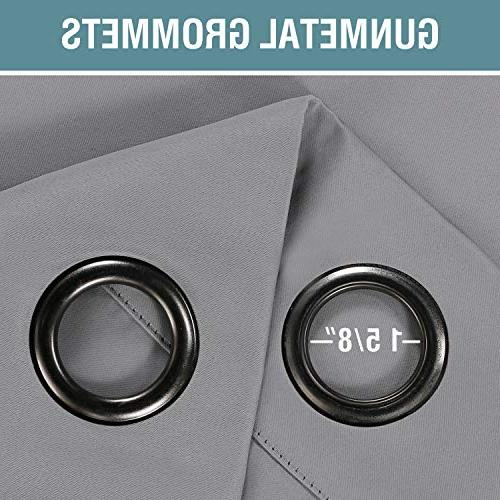 Curtains Blackout Insulated Drapes Draperies Living Room / Bedroom, Saving Curtains Door, 1 Panel