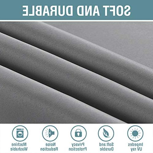 Curtains Blackout Darkening Insulated Drapes Room / Saving Curtains Door, Dove Gray, Panel