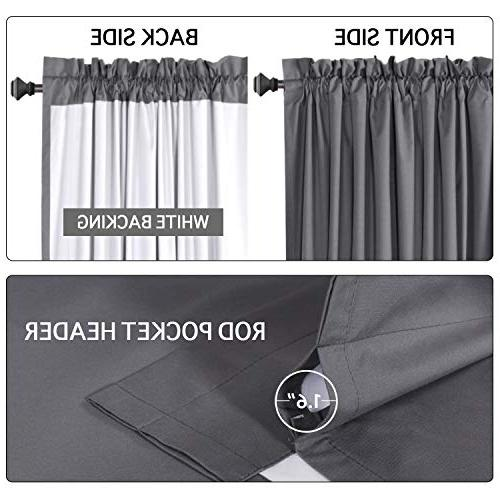 Flamingo Grey Curtains for Curtains 63 inch Thermal Insulated Cotton Finishing 2