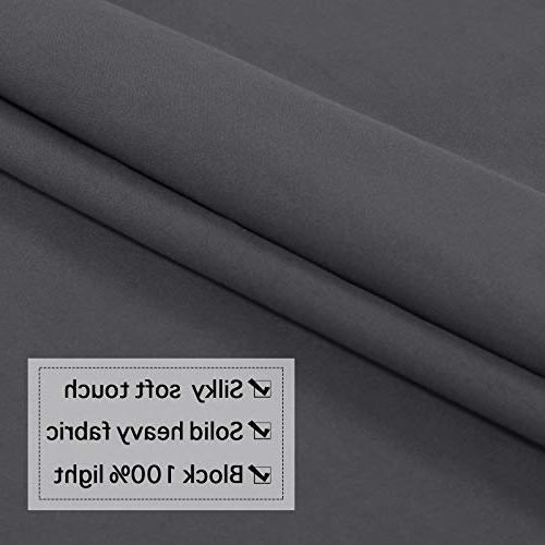 Flamingo Grey Curtains 63 Long, Thermal Cotton Finishing Curtains, Panels,
