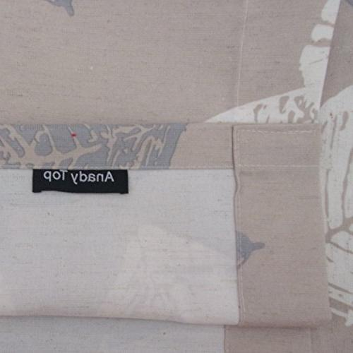 Anady Curtains Panel Khaki Curtains Room Wide