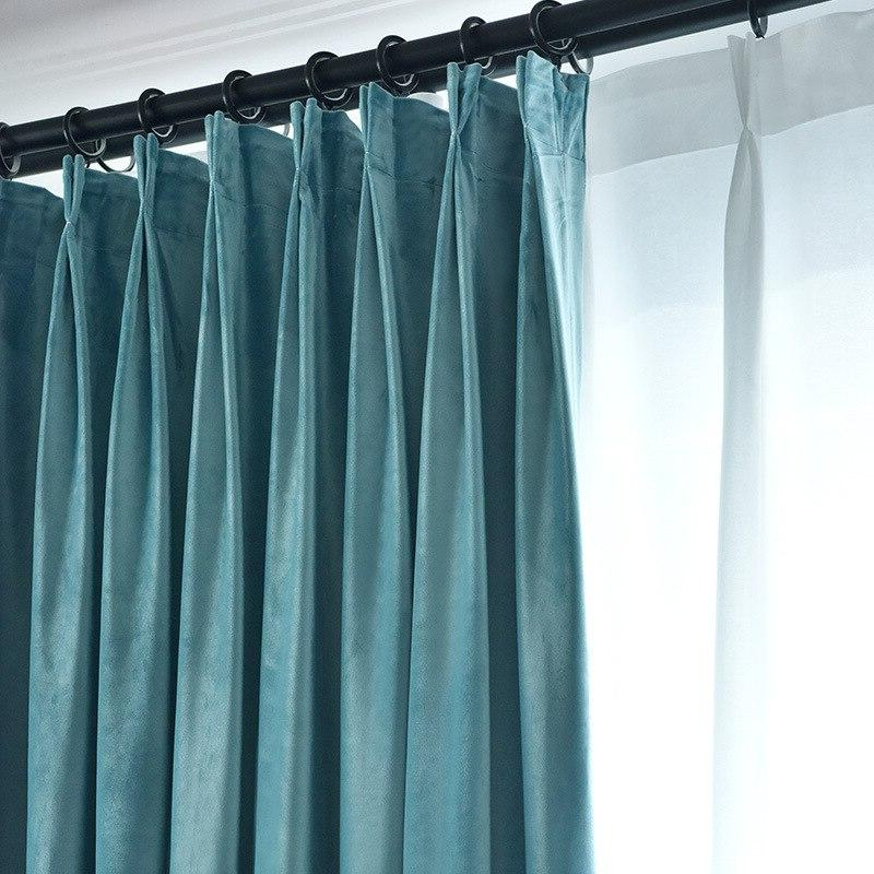 Blackout Luxury for Solid Plain Door <font><b>Curtain</b></font> Drape Tulle Blue Brown Yellow
