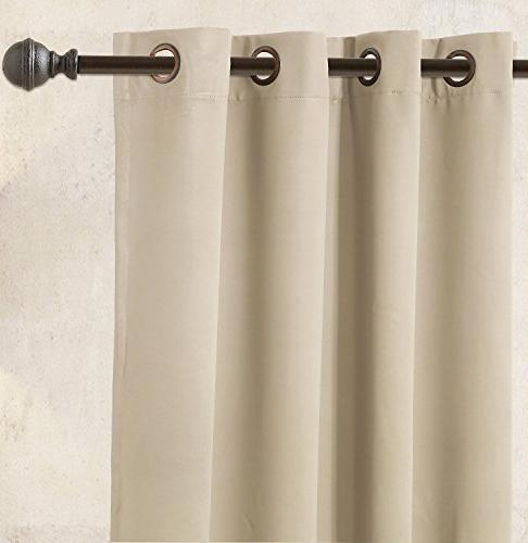 Utopia Bedding Room Darkening Curtains Window Panel Drapes 1 Inches Wide 84 Inches Long - 8 Grommets/Rings Panel 1 Tie
