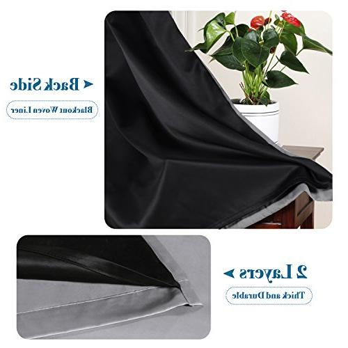 H.VERSAILTEX Blackout Extra Long 108 Inches Noise Performance Grommet with Black Liner, Light Blocking Drapery