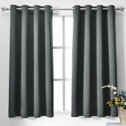 Blackout Window Curtains Drapes 2 Grommet 84'' 95''