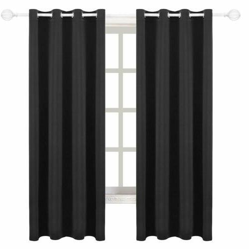Blackout Window 2 Panel Insulated Thermal Grommet 63''