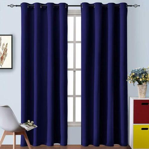 Blackout Curtains 2 Panel Grommet 84'' 95''