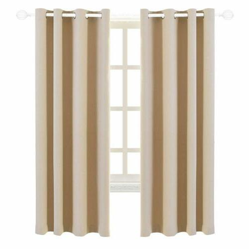 Blackout Curtains 2 Insulated Grommet 63''