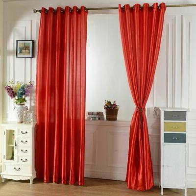 Blockout Curtains Eyelet Solid Washable Home Decor