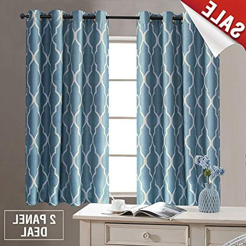 blue curtains long