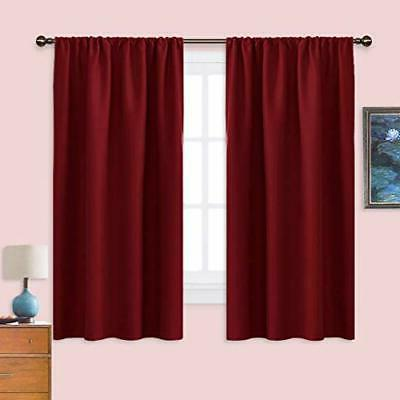 burgundy blackout curtains and drapes thermal 42