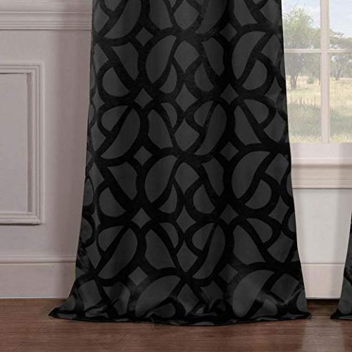 Duck River Charlotte Blackout Room Darkening Curtains Panel Drapes for Room - Set 2 Panels - 84 Inch -