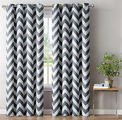 chevron print thermal insulated blackout