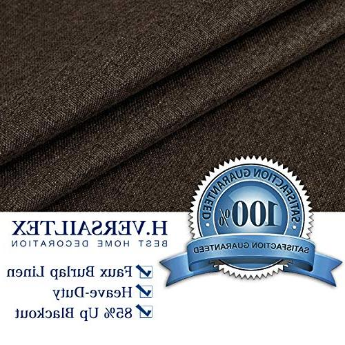 H.VERSAILTEX Linen Extra Long 108 Inches Grommet Room Linen Curtains/Draperies, Weight Dining Room