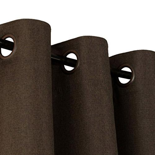 H.VERSAILTEX Linen Long 108 Room Linen Curtains/Draperies, Thermal Weight Linen Curtains Dining - Brown