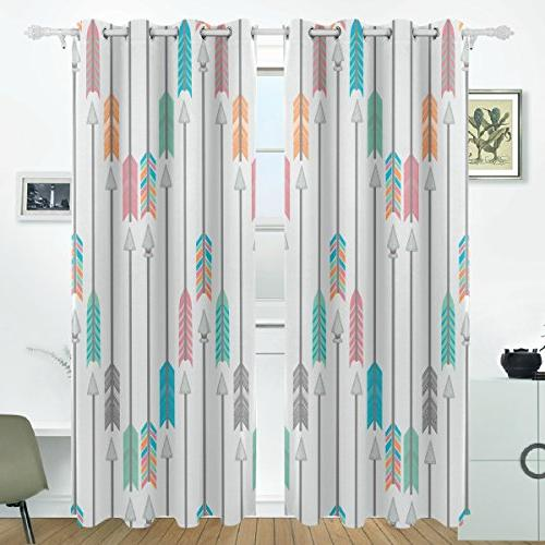 colorful arrows blackout curtains darkening