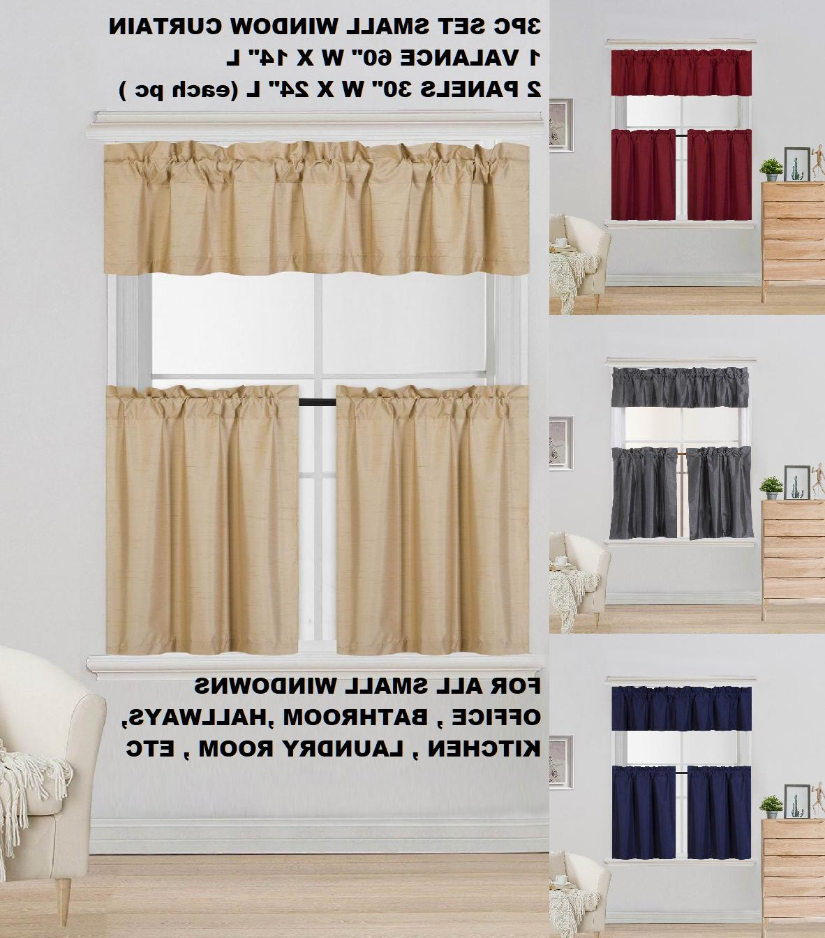 complete set lined blackout window kitchen curtain