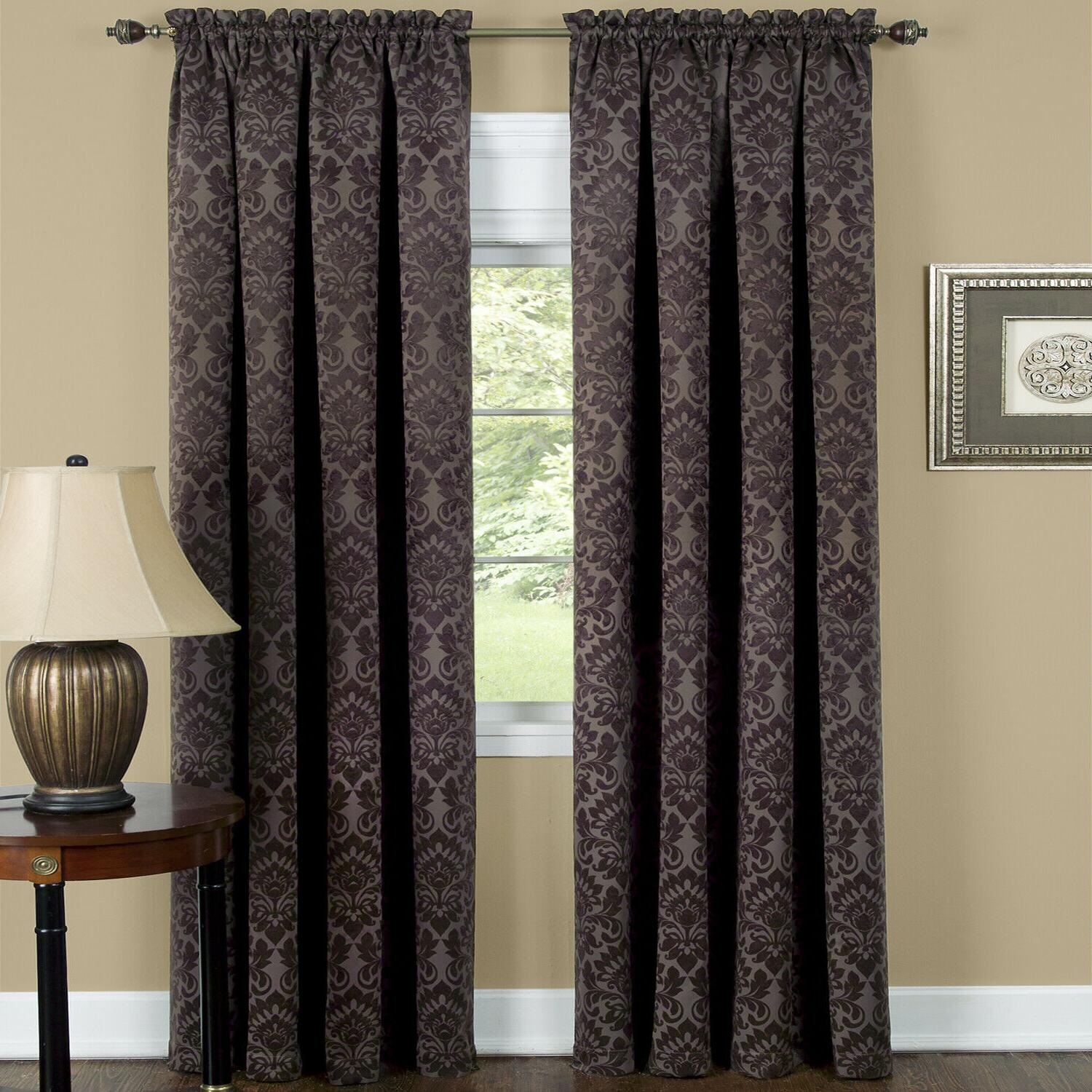 Damask Window Curtains - Colors