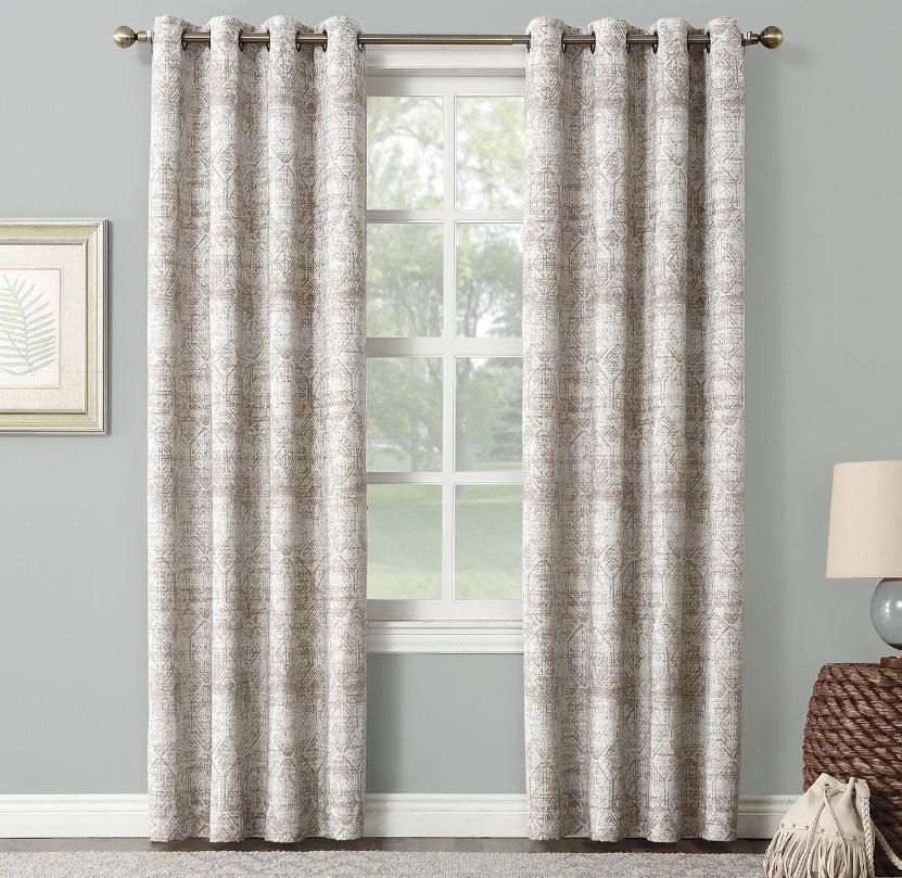 darren distressed global blackout lined grommet curtain