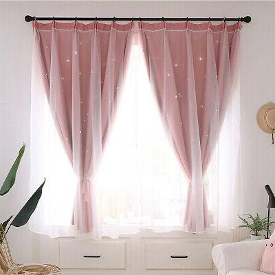 Double-layer Curtain Starry Curtains Bedroom