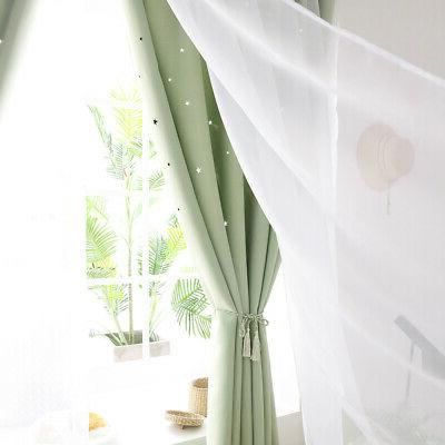 Double-layer Blackout Curtain Starry Curtains Bedroom Decor
