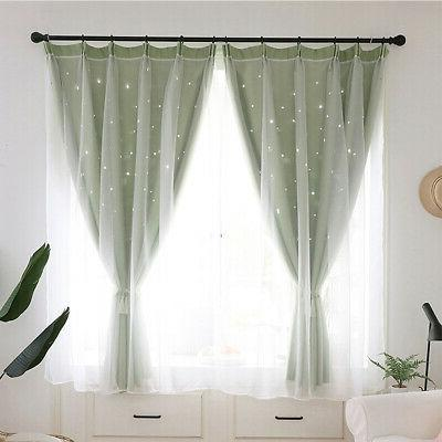 Double-layer Curtains Curtain Girls Bedroom Decor