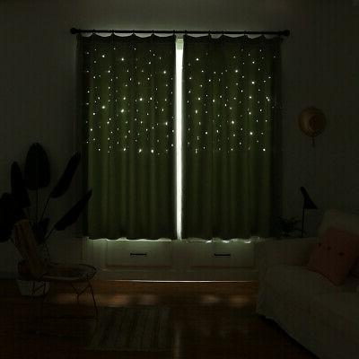 Double-layer Curtain Starry Curtains Girls Bedroom Decor