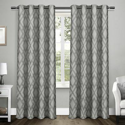 easton thermal woven blackout grommet top curtain