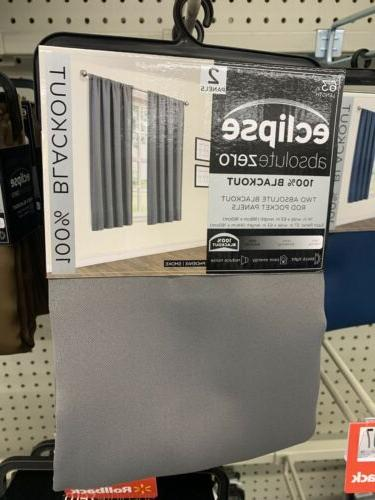 eclipse absolute zero curtains 2 pk total