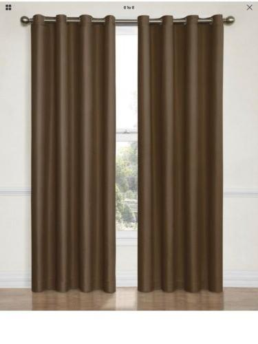 eclipse curtain single panel dane 52x95 chocolate