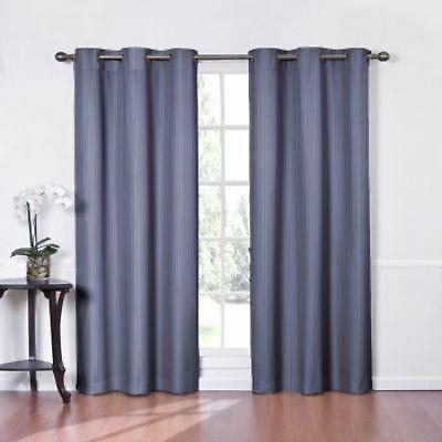 NEW Eclipse Curtains Kent Grommet Blackout Panel- Wedgewood