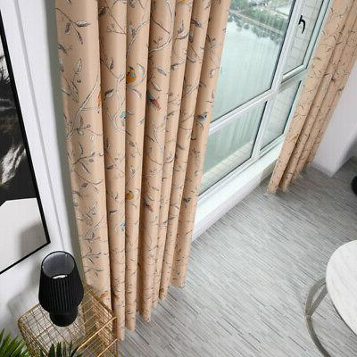 Embroidered Office Plant Balcony Curtain Fabric